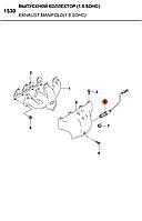Датчик лямбда-зонд Nubira\Nexia\Espero (Б.У) Запорожье