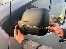 Nissan NV300 2016↗ рр. Смужки на дзеркала (2 шт., нерж)