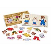 Развивающая игрушка Melissa&Doug Одень семью медведей (MD3770)