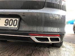 Накладки на глушник Carmos (2019-2021, 3 шт, нерж) Volkswagen Passat B8 2015↗ рр.
