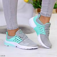 """Жіночі текстильні кросівки Сірі з бірюзовим """"Yolli"""", фото 1"""