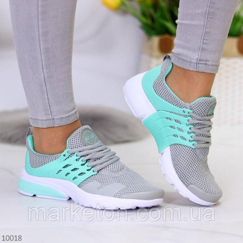 """Жіночі текстильні кросівки Сірі з бірюзовим """"Yolli"""""""