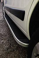 Hyundai Santa Fe 4 2018↗ рр. Бічні пороги Tayga Grey (2 шт., алюміній)