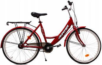 Городской велосипед OLPRAN JUPITER 24 red 130-160 см Польша