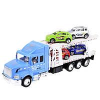 Игрушечный грузовик Na-Na с платформой для машин IM77B