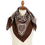 Пасхальный мотив 1931-16, павлопосадский платок шерстяной  с оверлоком, фото 2