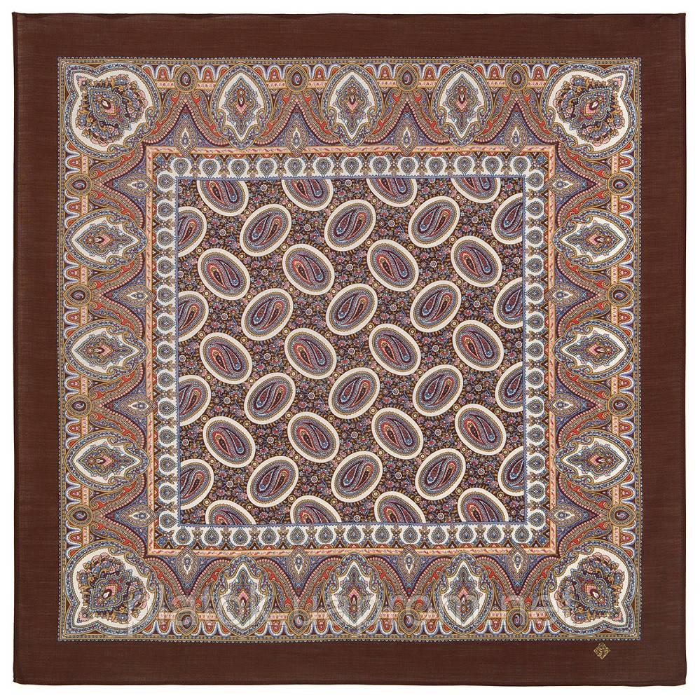 Пасхальный мотив 1931-16, павлопосадский платок шерстяной  с оверлоком