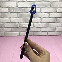 Ручка гелевая Марвел Капитан Америка Голубая цвет чернил черный