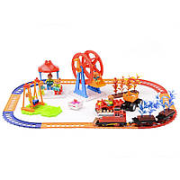Игровой набор Na-Na Железная дорога Веселые времена со светом и звуком IE283