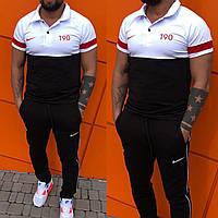 Спортивний костюм чоловічий Nike чорно-білий ПН/-2296