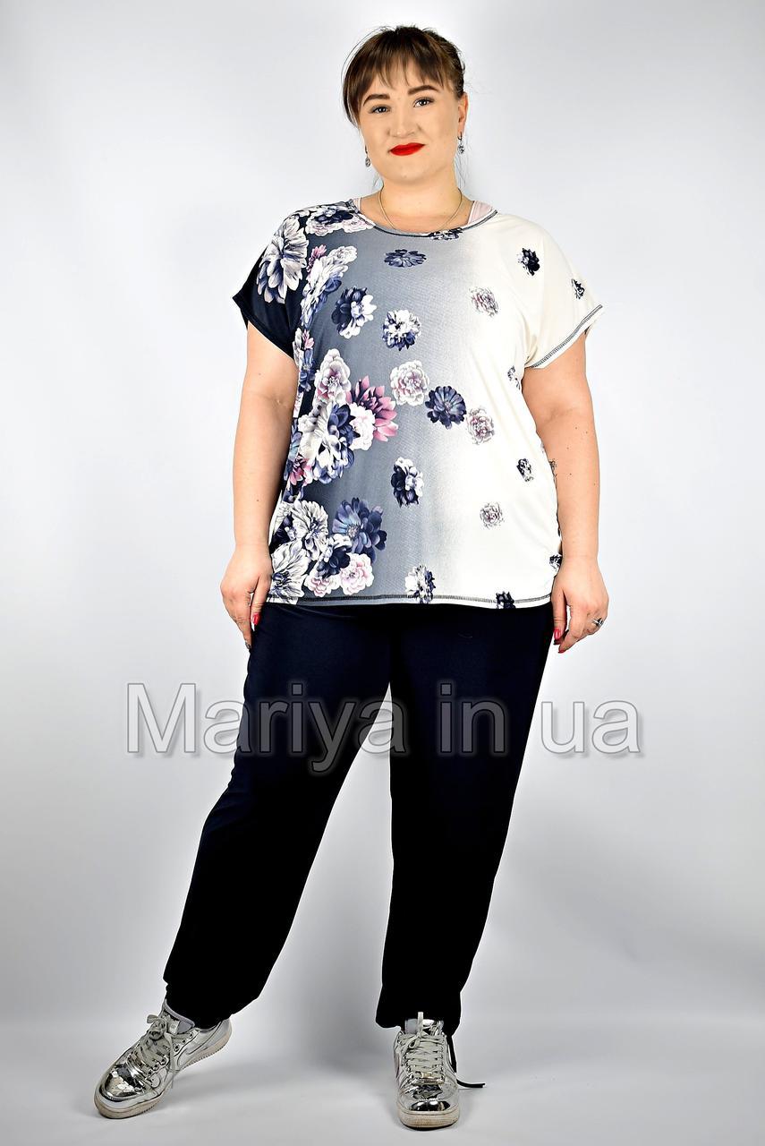 Женский брючный костюм большие размеры от 54 до 64