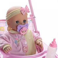 Кукла малыш с коляской Na-Na со звуком и светом ID116