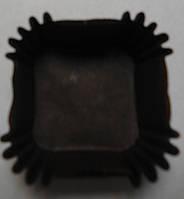 Форма/мафина коричневые 4*4*2,2 см (квадрат) (код 04521)