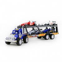 Игрушечный грузовой внедорожник Na-Na с трейлером и машинками IM97B