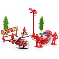 Игровой набор Na-Na Пожарники с техникой и аксессуарами IM302
