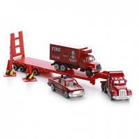 Детский набор Na-Na Пожарный трейлер с прицепом и автомобилями IM298