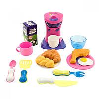 Детский кухонный набор Na-Na Кофеварка на батарейках с едой и посудой IE387