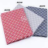 Клапоть тканини з біло-червоними сердечками в квадратиках, №3358а, розмір 48*80 см, фото 8