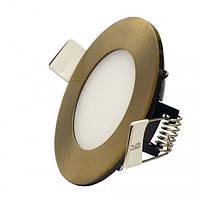 Світильник діодний LI 04 LED 4W R 3000K АВ бронза, фото 1
