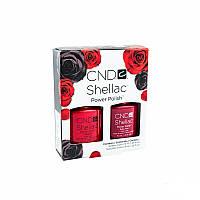 Набор CND Shellac Perfect Pair / Wildfire - красный 7.3 мл. и Ruby Ritz - красный с красными блёстками 7.3 мл.