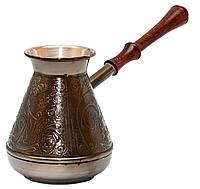 Турка медная 0.5 л Пятигорск (тёмная ручка) арт. 4255