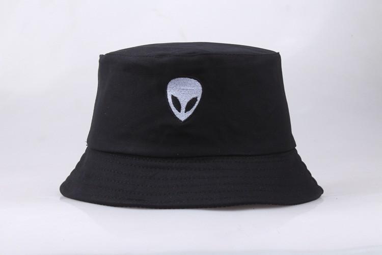 Панама Bucket Hat City-A Alien с Инопланетянином Черная