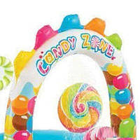 Детский надувной центр Intex  «Сладости» с шариками, горкой и фонтаном