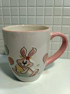 Кружка керамическая BonaDi 360мл с объемным рисунком Веселый кролик DM134-E