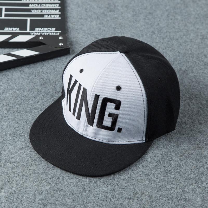 Снэпбек Snapback Кепка Бейсболка Снепбек City-A с надписью King Король Черно-белый с черным лого