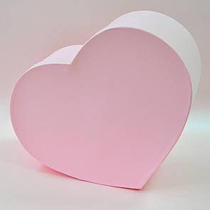 Коробка сердце большое розовое