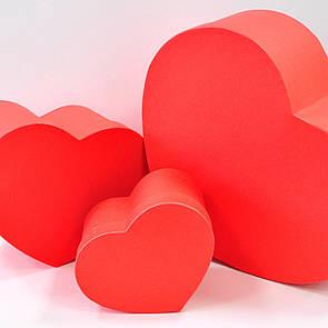 """Набор коробок """"Сердце"""" красный"""