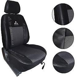"""Чехлы на сиденья Mitsubishi Lancer X 2008- / автомобильные чехлы Митсубиси Лансер Х """"Prestige"""" эконом"""