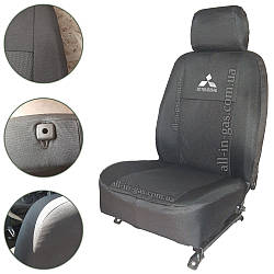 """Чехлы на сиденья Mitsubishi Lancer X 2008- / автомобильные чехлы Митсубиси Лансер Х """"Prestige"""" стандарт"""