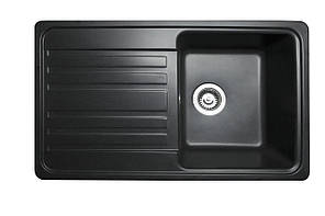Кухонна мийка гранітна MIRAGGIO VERSAL black