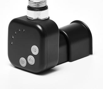 Чёрный ТЭН HeatQ MS black квадратный: регулятор 30-60C + таймер 2 ч. (2 режима) +маскировка провода +LED