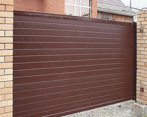 Ворота откатные зашивка профнастилом 2 ст. 3000х1600