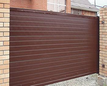 Ворота відкатні зашивання профнастилом 2 ст. 3000х1600