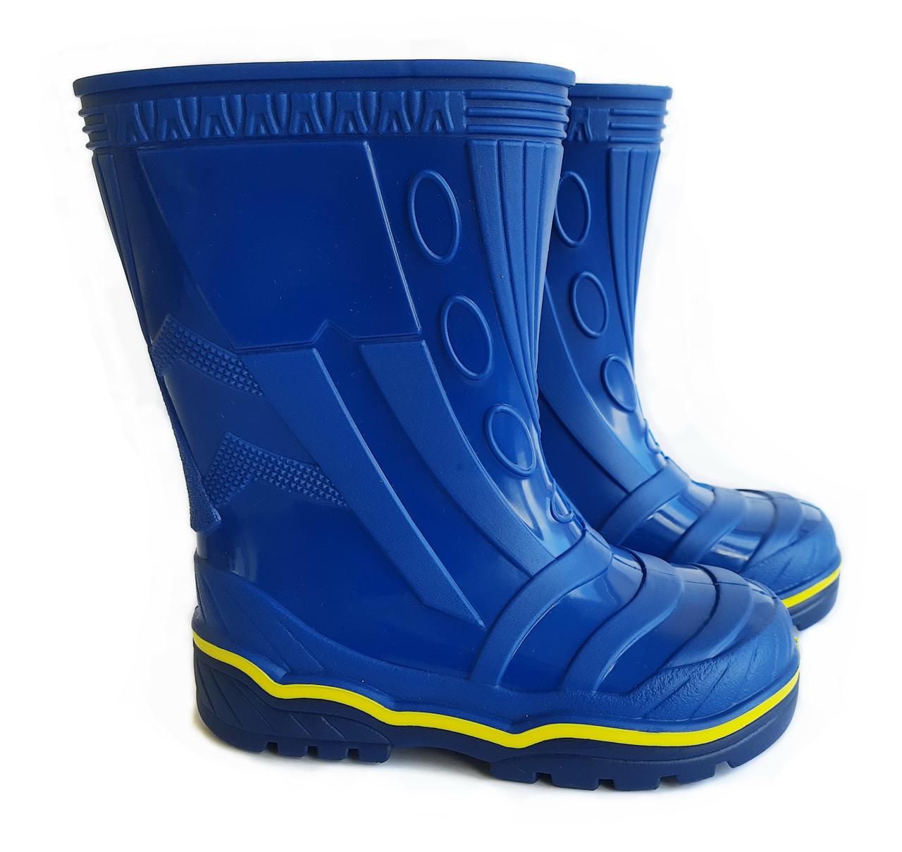 Резиновые сапоги детские синие Для мальчика | Размер 23-26 |
