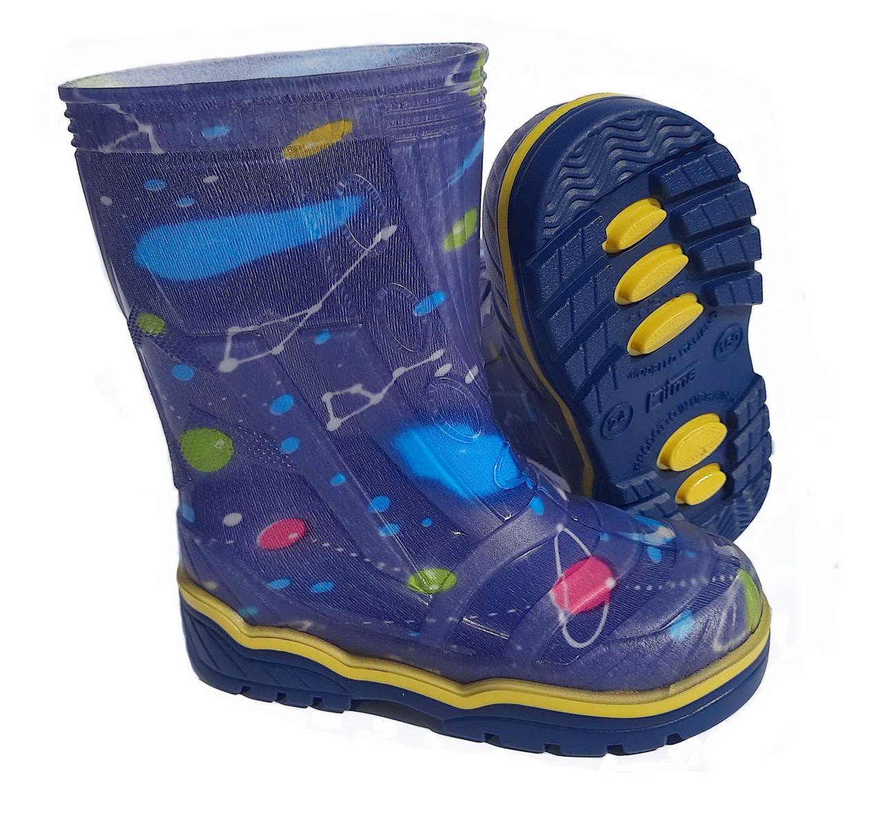 Резиновые сапоги детские цветные Для мальчика | Размер 23-26 |