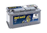 Акумулятор Inci Aku Start-Stop AGM 92Ah/850A R+ Автомобільний L5 092 085 013 АКБ Туреччина ПДВ