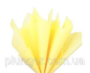 Папірусний папір для пакування кондитерських виробів, 50*65 см,10 листків Желтый