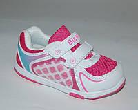 Детские кроссовки для девочек BI&KI арт. 4757G бело-малин