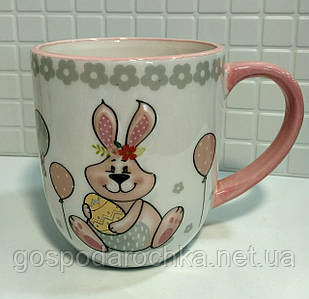 Кружка керамическая BonaDi 500мл с объемным рисунком Веселый кролик DM135-E
