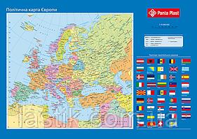#Подкладка д/письма Карта Европы 590x415мм PVC