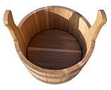 Шайка дубова для бані та сауни 5 літрів., фото 5