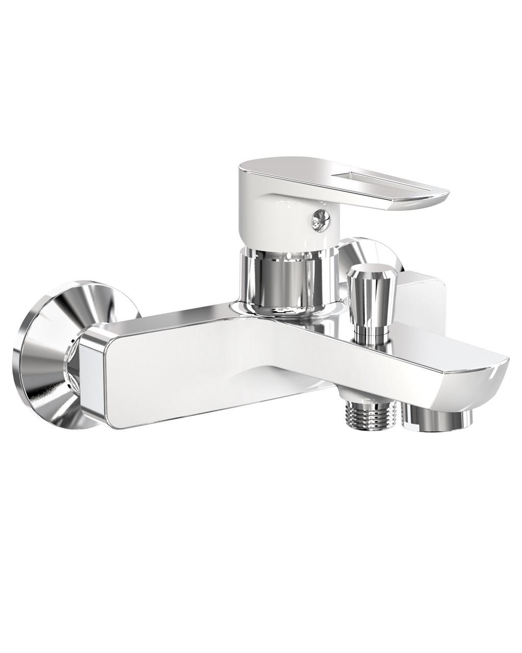 Смеситель для ванны, хром/белый, IMPRESE Breclav 10245W