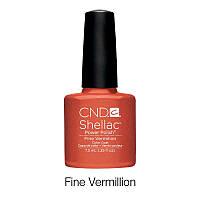 CND Shellac Fine Vermilion / терракотово - оранжевый, 7,3 мл