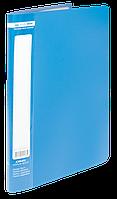 $Папка пластиковая с 10 файлами JOBMAX А4 синяя