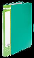 $Папка пластиковая с 10 файлами JOBMAX А4 зеленая