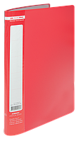 $Папка пластиковая с 10 файлами JOBMAX А4 красная